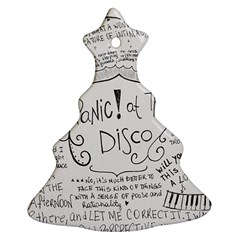 Panic! At The Disco Lyrics Christmas Tree Ornament (2 Sides) by Onesevenart