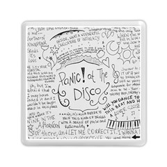 Panic! At The Disco Lyrics Memory Card Reader (square)  by Onesevenart