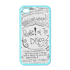 Panic! At The Disco Lyrics Apple Iphone 4 Case (color) by Onesevenart
