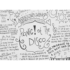 Panic! At The Disco Lyrics Birthday Cake 3d Greeting Card (7x5) by Onesevenart