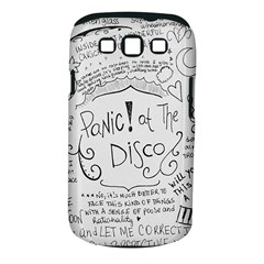 Panic! At The Disco Lyrics Samsung Galaxy S Iii Classic Hardshell Case (pc+silicone) by Onesevenart