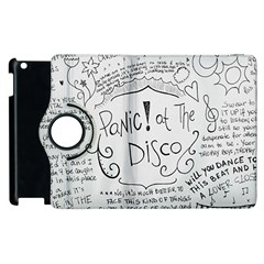 Panic! At The Disco Lyrics Apple Ipad 3/4 Flip 360 Case by Onesevenart