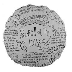 Panic! At The Disco Lyrics Large 18  Premium Round Cushions by Onesevenart