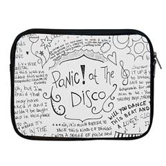 Panic! At The Disco Lyrics Apple Ipad 2/3/4 Zipper Cases by Onesevenart