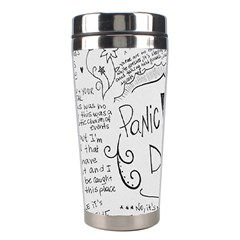 Panic! At The Disco Lyrics Stainless Steel Travel Tumblers by Onesevenart
