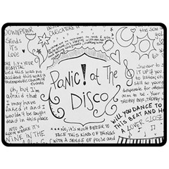 Panic! At The Disco Lyrics Double Sided Fleece Blanket (large)  by Onesevenart