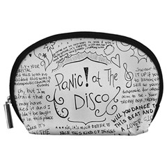 Panic! At The Disco Lyrics Accessory Pouches (large)  by Onesevenart
