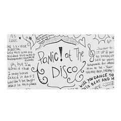 Panic! At The Disco Lyrics Satin Wrap by Onesevenart