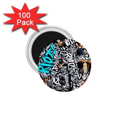 Panic! At The Disco College 1 75  Magnets (100 Pack)  by Onesevenart
