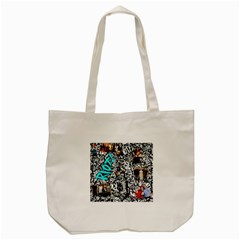 Panic! At The Disco College Tote Bag (cream) by Onesevenart