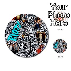 Panic! At The Disco College Multi Purpose Cards (round)  by Onesevenart