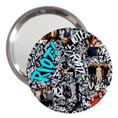 Panic! At The Disco College 3  Handbag Mirrors by Onesevenart