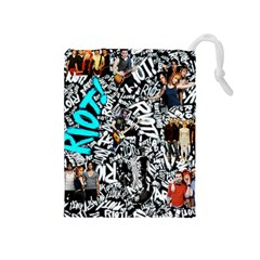 Panic! At The Disco College Drawstring Pouches (medium)  by Onesevenart