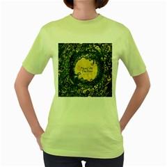 Panic At The Disco Women s Green T Shirt by Onesevenart