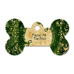 Panic At The Disco Dog Tag Bone (one Side) by Onesevenart