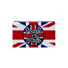 Punk Not Dead Music Rock Uk United Kingdom Flag Cosmetic Bag (small)  by Onesevenart