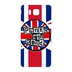 Punk Not Dead Music Rock Uk United Kingdom Flag Samsung Galaxy Alpha Hardshell Back Case by Onesevenart