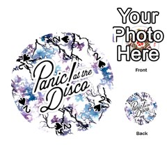 Panic! At The Disco Playing Cards 54 (round)  by Onesevenart