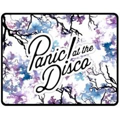 Panic! At The Disco Fleece Blanket (medium)  by Onesevenart