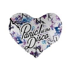 Panic! At The Disco Standard 16  Premium Flano Heart Shape Cushions by Onesevenart