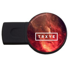 Trxye Galaxy Nebula Usb Flash Drive Round (2 Gb)  by Onesevenart