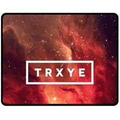 Trxye Galaxy Nebula Fleece Blanket (medium)  by Onesevenart