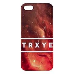 Trxye Galaxy Nebula Apple Iphone 5 Premium Hardshell Case by Onesevenart