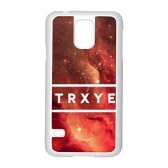 Trxye Galaxy Nebula Samsung Galaxy S5 Case (White) by Onesevenart