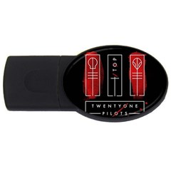 Twenty One Pilots Usb Flash Drive Oval (2 Gb)  by Onesevenart