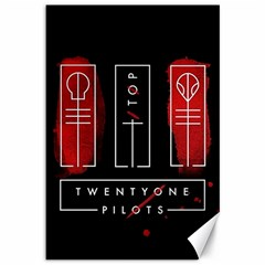 Twenty One Pilots Canvas 12  X 18   by Onesevenart