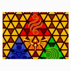 The Triforce Stained Glass Large Glasses Cloth by Onesevenart