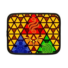 The Triforce Stained Glass Netbook Case (small)  by Onesevenart