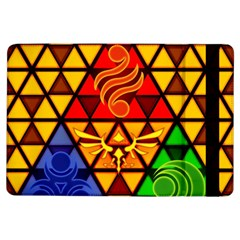 The Triforce Stained Glass Ipad Air Flip by Onesevenart