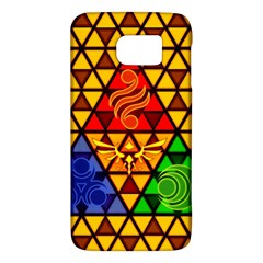 The Triforce Stained Glass Galaxy S6 by Onesevenart