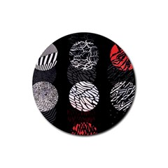 Twenty One Pilots Stressed Out Rubber Round Coaster (4 Pack)  by Onesevenart