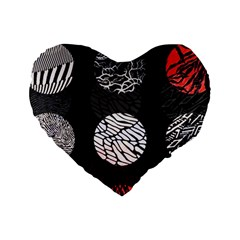 Twenty One Pilots Stressed Out Standard 16  Premium Flano Heart Shape Cushions by Onesevenart