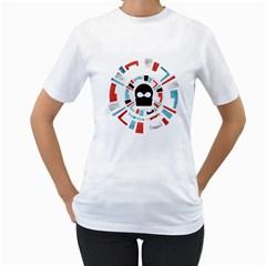 Twenty One Pilots Women s T Shirt (white) (two Sided) by Onesevenart