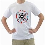 Twenty One Pilots Men s T-Shirt (White) (Two Sided)