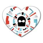 Twenty One Pilots Heart Mousepads