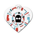 Twenty One Pilots Dog Tag Heart (Two Sides)