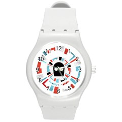 Twenty One Pilots Round Plastic Sport Watch (m) by Onesevenart