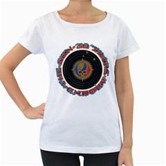 The Grateful Dead Women s Loose Fit T Shirt (white) by Onesevenart