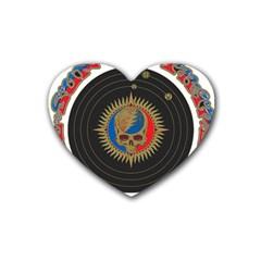 The Grateful Dead Rubber Coaster (heart)  by Onesevenart