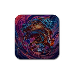 Voodoo Child Jimi Hendrix Rubber Square Coaster (4 Pack)  by Onesevenart