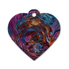 Voodoo Child Jimi Hendrix Dog Tag Heart (two Sides) by Onesevenart