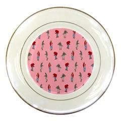 Hotline Bling Pattern Porcelain Plates by Onesevenart