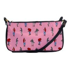 Hotline Bling Pattern Shoulder Clutch Bags by Onesevenart