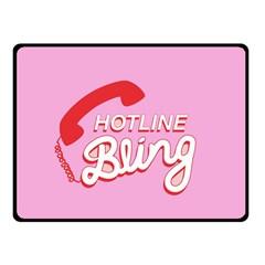 Hotline Bling Fleece Blanket (small) by Onesevenart
