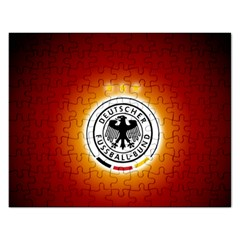 Deutschland Logos Football Not Soccer Germany National Team Nationalmannschaft Rectangular Jigsaw Puzzl