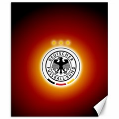 Deutschland Logos Football Not Soccer Germany National Team Nationalmannschaft Canvas 20  X 24   by Onesevenart